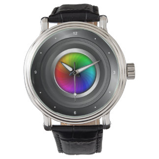 Photography Color Wheel Camera Lens Photographer Wristwatches
