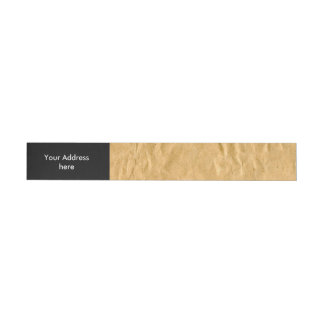 Photography - Crinkly Wrapping Paper + your ideas Wraparound Address Label