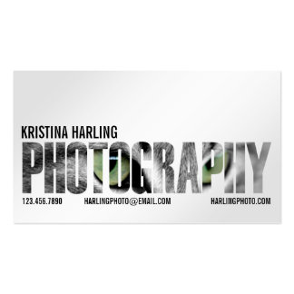 Photography Cutout - White Business Card Template