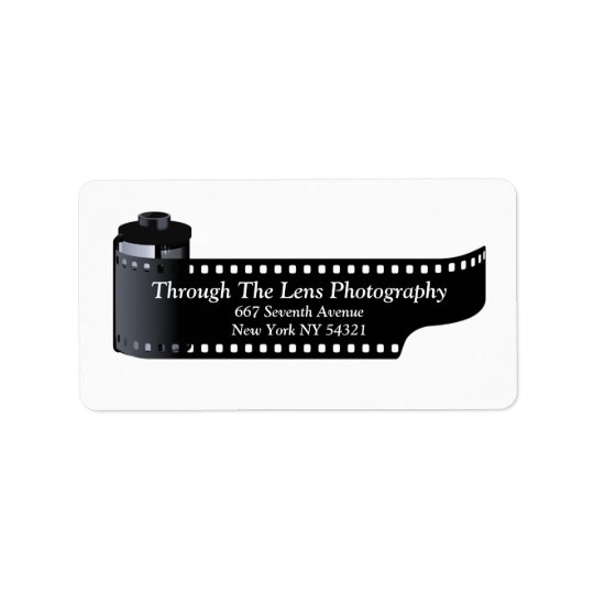 Photography Film Roll Photographer Minimal Label