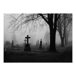 Photography for SALE - Cemetery Fog 1 Prints