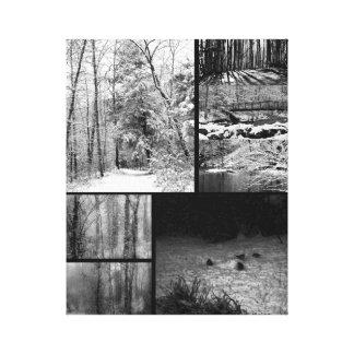 Photography Nature Winter Landscape Collage Canvas Print