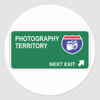 Photography Next Exit Classic Round Sticker