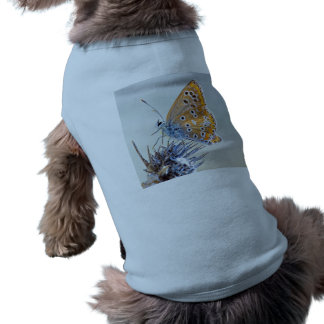 Photography of butterfly on flower of the desert doggie tee shirt