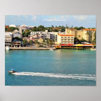 Photography of Nassau Bahamas, Boat, Senor Frogs Poster