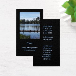 Photography Portrait Vertical Black Business Card