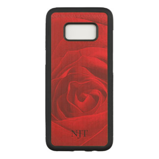 : Photography - Red Rose Abstract Carved Samsung Galaxy S8 Case