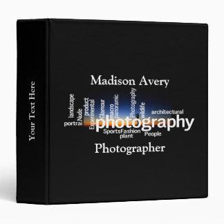 Photography Typography Sunrise Photographer Binder
