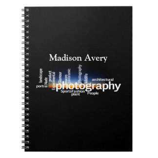 Photography Typography Sunrise Photographer Notebooks