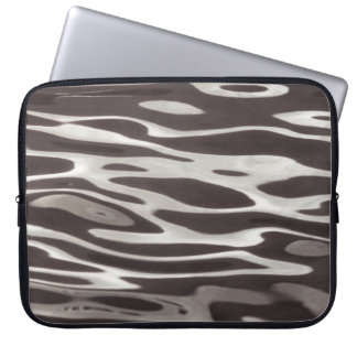 Photography Water reflection Grey/Brown Fluxus 04 Laptop Computer Sleeves