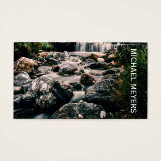 Photography WATERFALL STONES + your ideas Business Card
