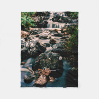 Photography WATERFALL STONES + your ideas Fleece Blanket