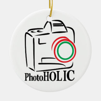 Photoholic Ceramic Ornament