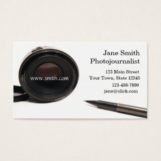 Photojournalist Business Card