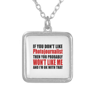 Photojournalist Don't Like Designs Square Pendant Necklace