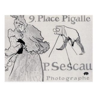 Photorapher Sescau by Toulouse-Lautrec Postcard