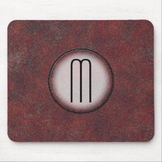 Photorealistic Rusted Metal Monogrammed Mouse Pad