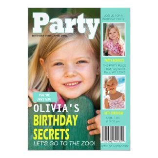 Photos de la couverture de magazine d'invitation carton d'invitation  12,7 cm x 17,78 cm