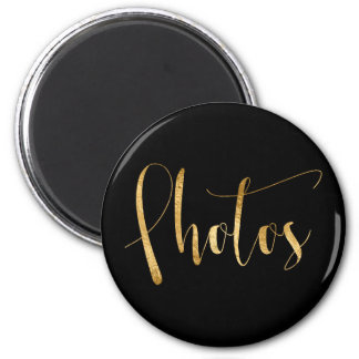 Photos Delicate Golden Script Home Office Planning 2 Inch Round Magnet