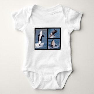 Photos mosaic of killer whales baby bodysuit