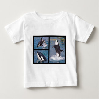 Photos mosaic of killer whales baby T-Shirt