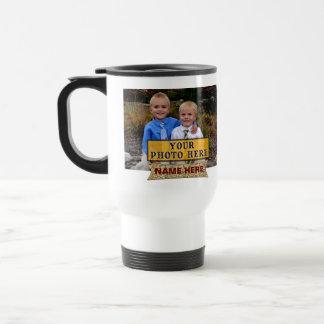 PHOTOS NAMES Personalized Photo Coffee Travel Mugs