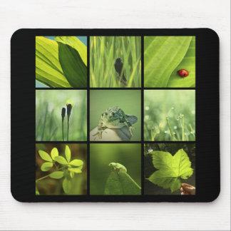 photos vertes Mousepad de la nature 3x3 Tapis De Souris
