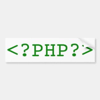 PHP Tags Bumper Sticker