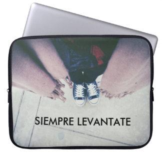 Phrase of motivation laptop sleeve