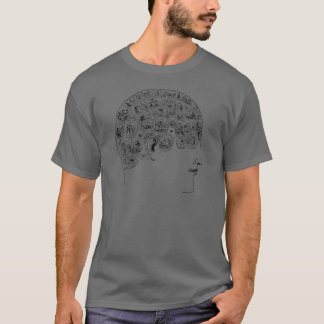 Phrenological Chart T-Shirt