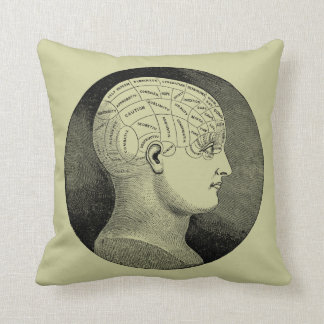 Phrenology Head Diagram Throw Pillow