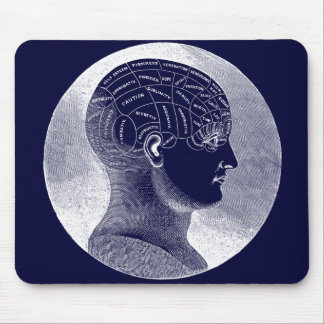 Phrenology Head Mouse Pad