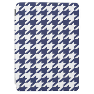 Phthalo Blue Moods Houndstooth iPad Air Cover