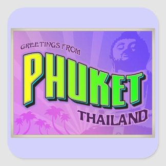 PHUKET SQUARE STICKER