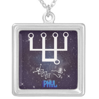 phul-spirit of the moon silver plated necklace