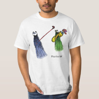 Phurfoo Golf: Blue swinging and green caddy T-Shirt