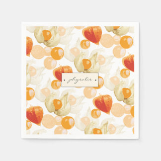 Physalis | Winter Cherries Napkin