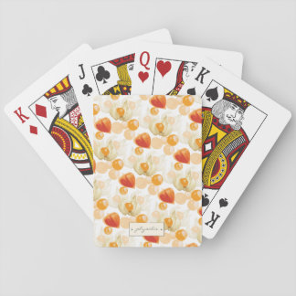 Physalis | Winter Cherries Playing Cards