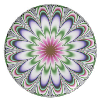 Physcedelic Dimentional Flower Melamine Plate