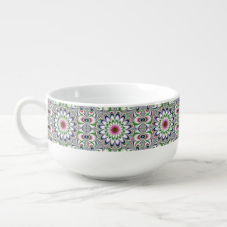 Physcedelic Dimentional Flower Soup Mug