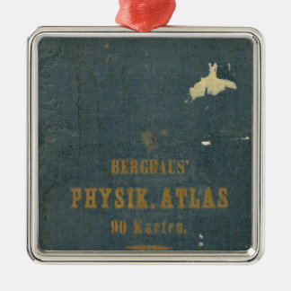 Physical Atlas version 1 Silver-Colored Square Ornament
