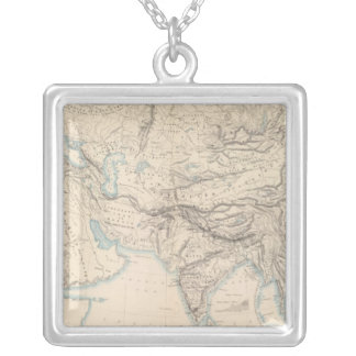 Physical Europe & Asia Square Pendant Necklace
