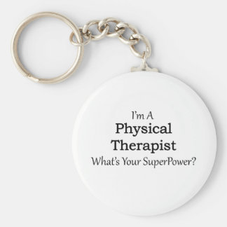 Physical Therapist Basic Round Button Keychain
