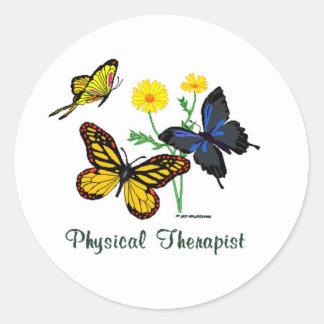 Physical Therapist Butterflies Round Sticker