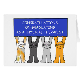 Physical Therapist Graduate Congratulations. Card