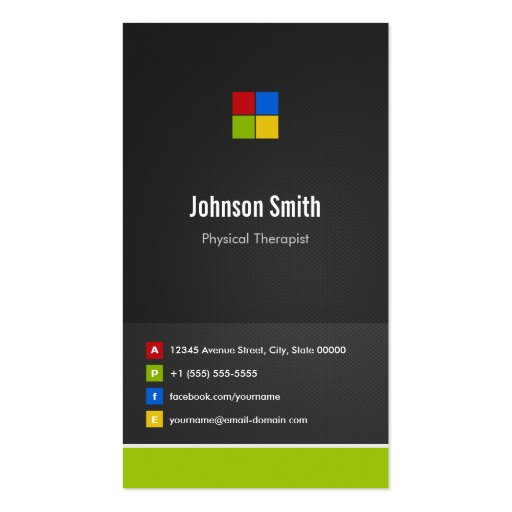 Physical Therapist - Premium Creative Colorful Business Card Template