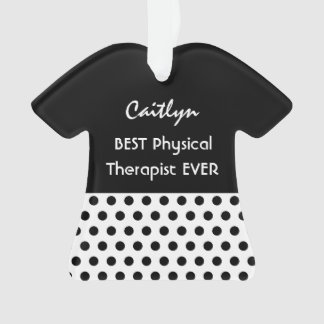 PHYSICAL THERAPIST Profession BLACK Polka Dots A15