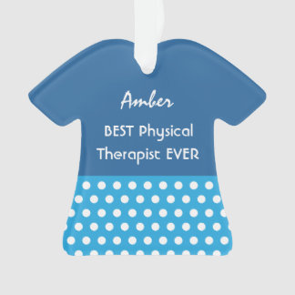 PHYSICAL THERAPIST Profession BLUE Polka Dots A15