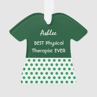 PHYSICAL THERAPIST Profession GREEN Polka Dots A13