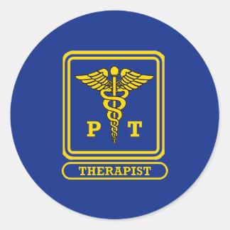 Physical Therapist Round Sticker